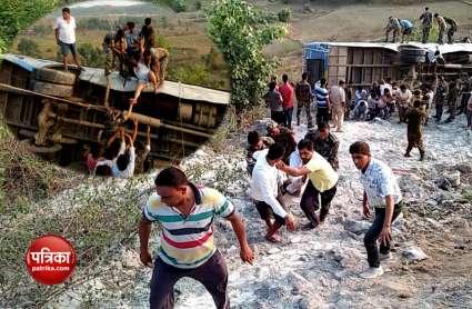 झारखंड: गढ़वा में खाई में गिरी बस, 6 यात्रियों की मौके पर ही मौत