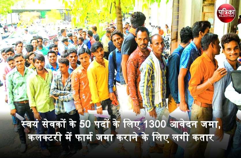 Video : बांसवाड़ा में स्वयं सेवकों के 50 पदों के लिए 1300 आवेदन जमा, कलक्टरी में फार्म जमा कराने के लिए लगी कतार
