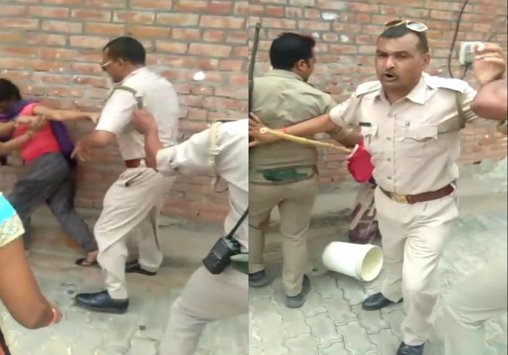 पानी के विवाद में सिपाही ने मां-बेटी को पीटा, वीडियो हो रहा वायरल