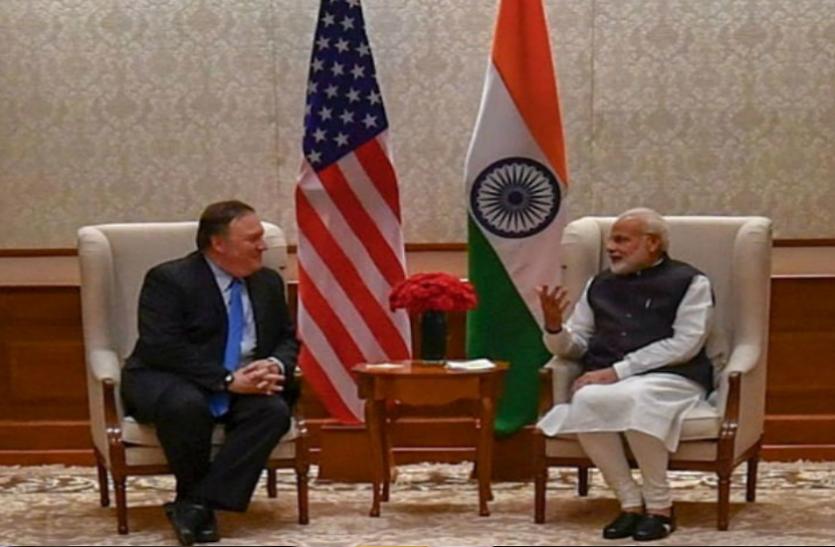 भारत पहुंचे अमरीकी विदेश मंत्री माइक पॉम्पिओ...