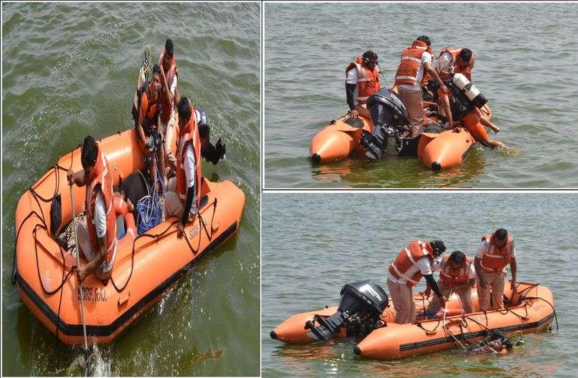 SDRF के जवानों ने बाढ़ से बचाव के लिए किया पूर्वाभ्यास