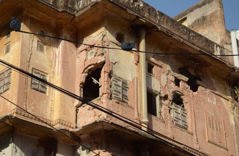 चारदीवारी में झर झर इमारत स्टोरी फोटो जयपुर