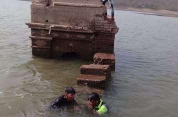 SURAT PICS : बांध में छिपी राज परिवार ऐतिहासिक इमारतें