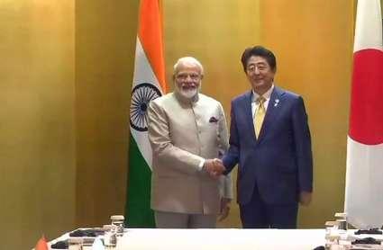 G-20 समिट: जापानी पीएम शिंजो आबे से मिले पीएम मोदी, आपसी संबंधों में मजबूती का नया दौर