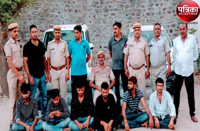 मध्यप्रदेश से मारवाड़ ला रहे 3.64 क्विंटल डोडा-पोस्त बरामद, पिता-पुत्र सहित छह जने गिरफ्तार