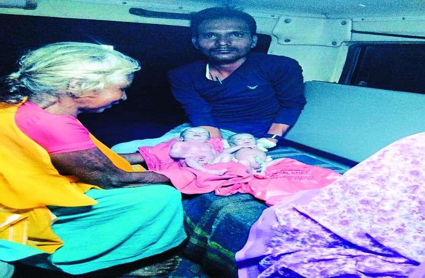 दूर था अस्पताल और दर्द से तड़प रही थी महिला, जान का खतरा देख ईएमटी ने एम्बुलेंस में ही कराई डिलीवरी