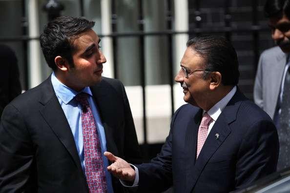 Asif Ali Zardari with Bilwal Bhutto