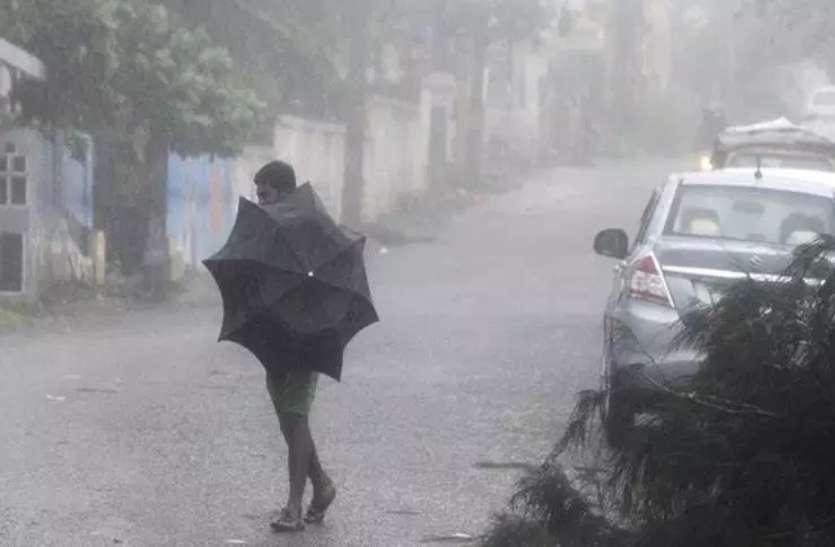 Rain hail in Jhunjhunu Rajasthan : मौसम विभाग के अलर्ट के बाद शेखावाटी में सोमवार को मौसम का मिजाज बदल गया।
