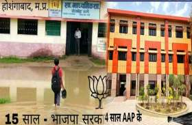 सिसोदिया ने दिखाया: MP में बीजेपी के 15 सालों में ऐसा था स्कूलों का हाल, AAP के 4 साल में  देखो बदलाव