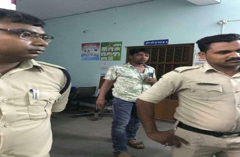 पेट्रोल पंप में पुलिसवाले ने की गुंडागर्दी, कर्मचारी से गाली गलौज कर जमकर की मारपीट