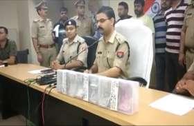 पच्चीस लाख की बैट्री चोरी कर बदमाश लगे रहे थे ठिकाने, पुलिस ने तीन को किया गिरफ्तार