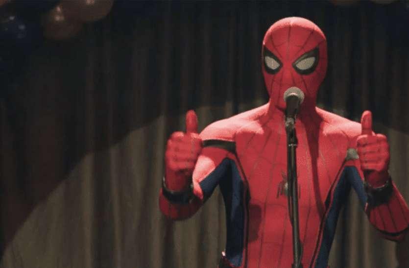 रिलीज से ठीक पहले 'स्पाइडर मैन' का हुआ 'देसी स्वागत', लोगों में जबरदस्त क्रेज
