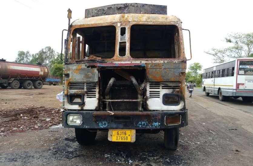 Surat News टैंकर में लगी आग, चालक की मौत