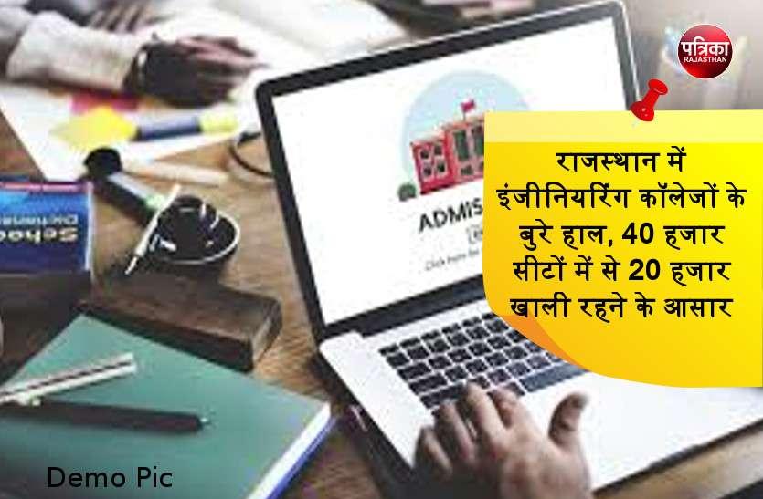 राजस्थान में इंजीनियरिंग कॉलेजों के बुरे हाल, 40 हजार सीटों में से 20 हजार खाली रहने के आसार