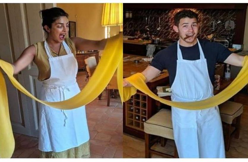 पति के लिए खाना पकाती नजर आईं प्रियंका, बनाई ये खास रेसिपी, निक ने शेयर किया मजेदार वीडियो