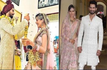 4 साल पहले लाखों लड़कियों का दिल तोड़ मीरा के हो गए थे शाहिद, तस्वीरों में देखें शादी के कुछ खास पल