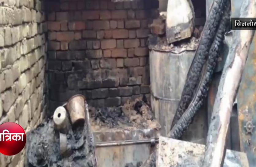 बिजनौर: प्रेमी के साथ में नहीं जाने दिया तो महिला ने अपने ही घर में लगा दी आग- देखें वीडियो