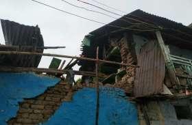 video: छत पर गिरी दीवार एक घायल, एक की मौत