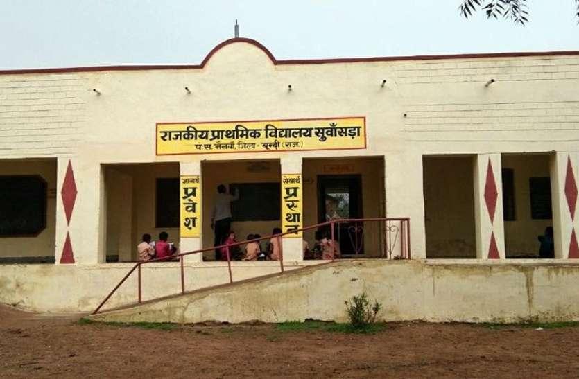 विद्यालय क्रमोन्ïनत नहीं होने से कलेजे के टुकड़े को डर के साये में भेज रहे  स्कूल