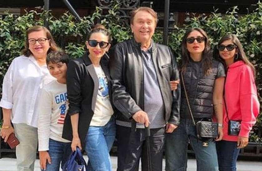 karisma kapoor kareena kapoor with family latest photos