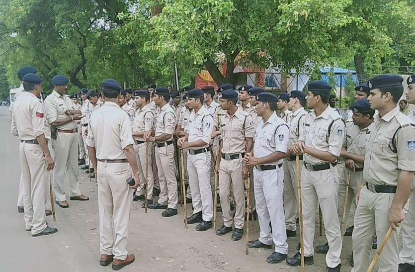 अवैध बाजार हटाने में जुटी भारी पुलिस बल, विरोध में उतरे भाजपा विधायक