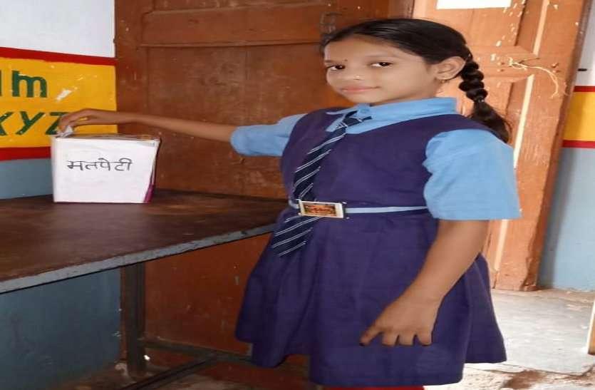 प्राथमिक शाला बोड़ेगांव में हुआ बाल संसद बोड़ेगांव का चुनाव