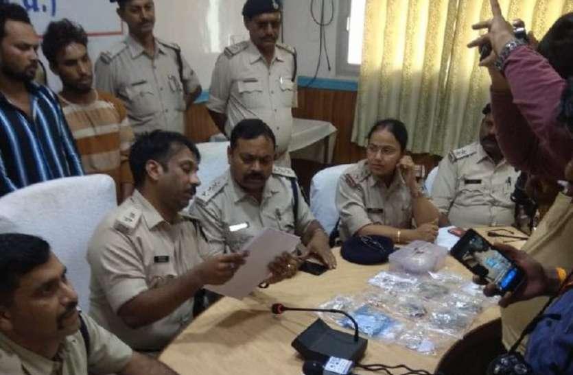 सतना पुलिस ने किया 11 चोरियों का खुलासा, आरोपियों के कब्जे से सोना-चांदी सहित 6 लाख का माल बरामद