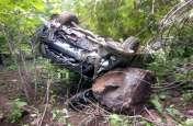 Korba: मड़वारानी पहाड़ पर पलटी कार, एक दर्जन से ज्यादा श्रद्धालु घायल
