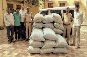 नोसरा-करड़ा पुलिस की कार्रवाई 534 किलो डोडा बरामद, आरोपी वाहन छोड़ फरार