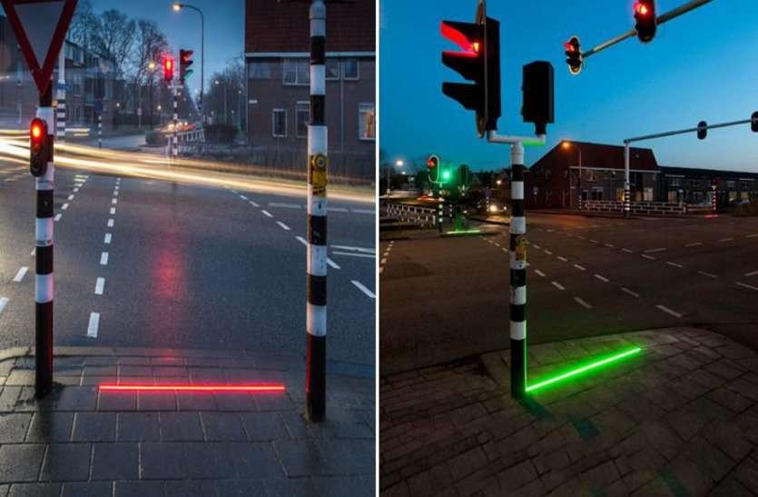 ground level traffic light