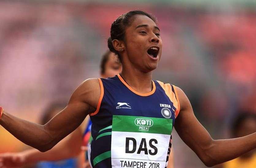 हिमा दास ने मात्र 11 दिन में जीते 3 गोल्ड मेडल