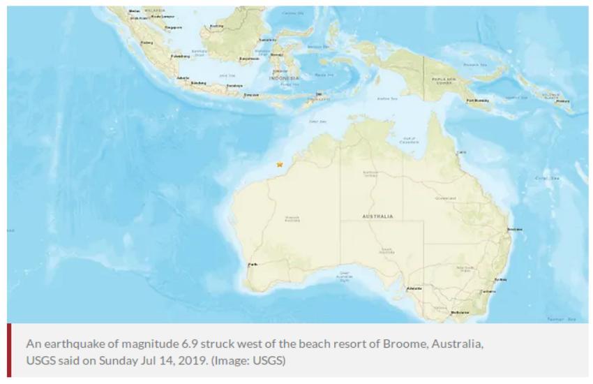 ऑस्ट्रेलिया में भूकंप के झटके