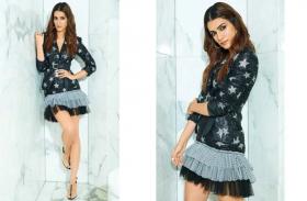 कृति सेनन ने 'अर्जुन पटियाला' के प्रमोशन में झिलमिलाती ब्लेजर और मिनी स्कर्ट में फैशन का जलवा बिखेरा