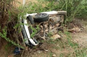 कार की टक्कर से बाइक सवार मामा-भांजे की मौत