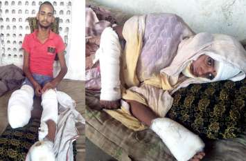 आर्थिक तंगी की मार : बिना उपचार कराए हॉस्पिटल से घर लौटी दम्पती, मकानों में करंट दौडऩे हुई थी घायल