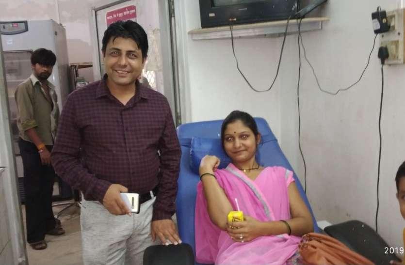 एनीमिक बच्चों के लिए आगे आए समजासेवी, एक दिन 42 यूनिट रक्तदान