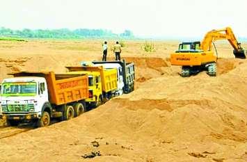 रेत खदानों की लीज खत्म, जोरों से जारी है अवैध खनन