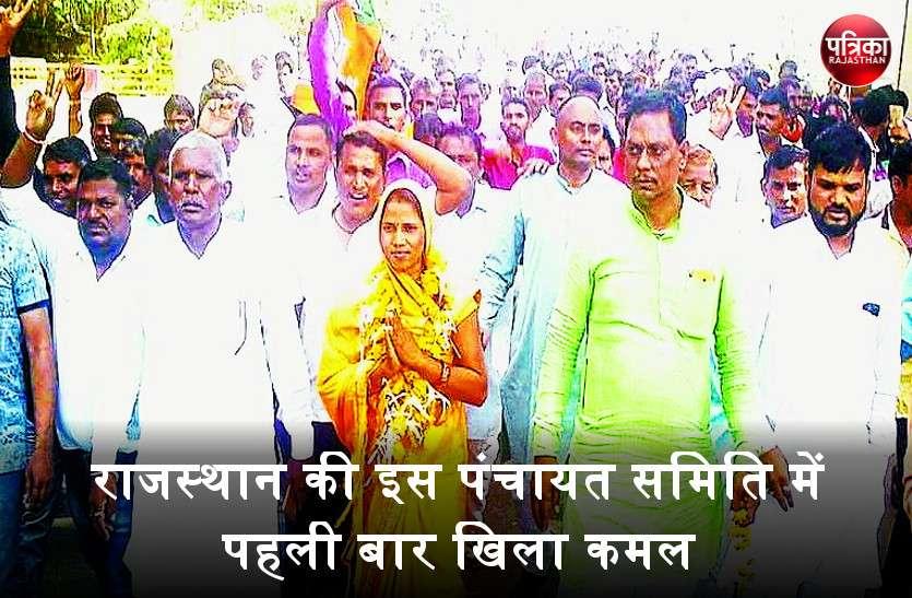 कुशलगढ़ पंचायत समिति उपचुनाव में पहली बार भाजपा की चंपादेवी बनी प्रधान, कांग्रेस प्रत्याशी को 1 वोट से हराया