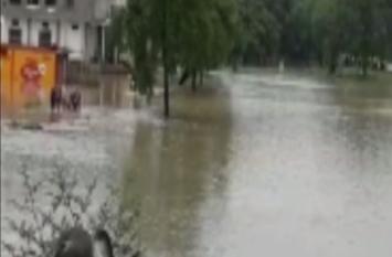 बहराइच में बाढ़ का क़हर, शुरु हुई जमीनों की कटान, देखें वीडियो