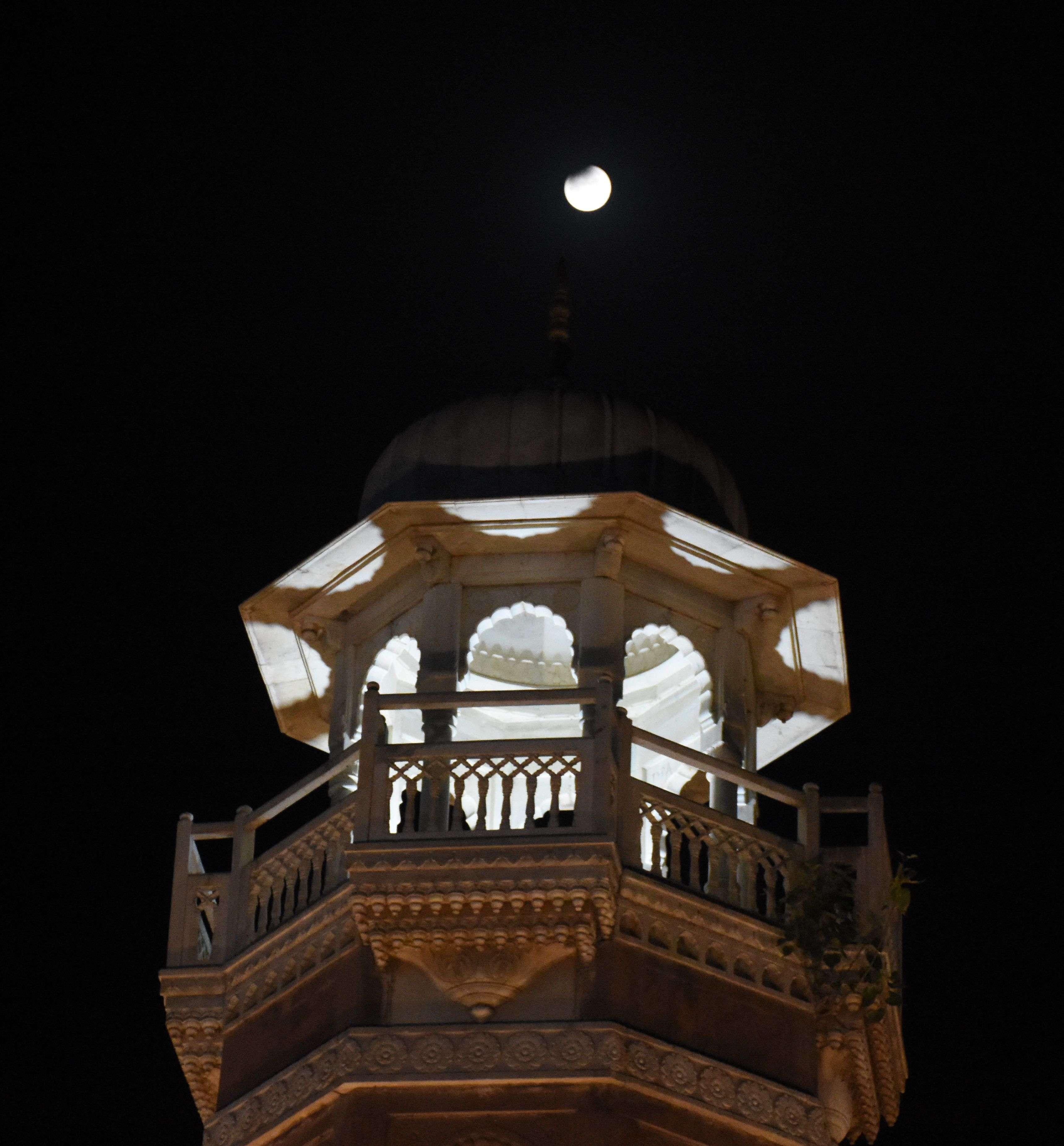 lunar eclipse chandra grahan 2019 in bikaner
