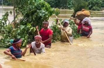 surat news बिहार और असम में बाढ़ के कारण व्यापार पर असर