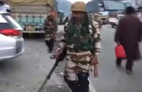 VIDEO: अमरनाथ यात्रा की सुरक्षा के लिए जम्मू-कश्मीर के गांदरबल में तैनात किए गए ITBP के जवान