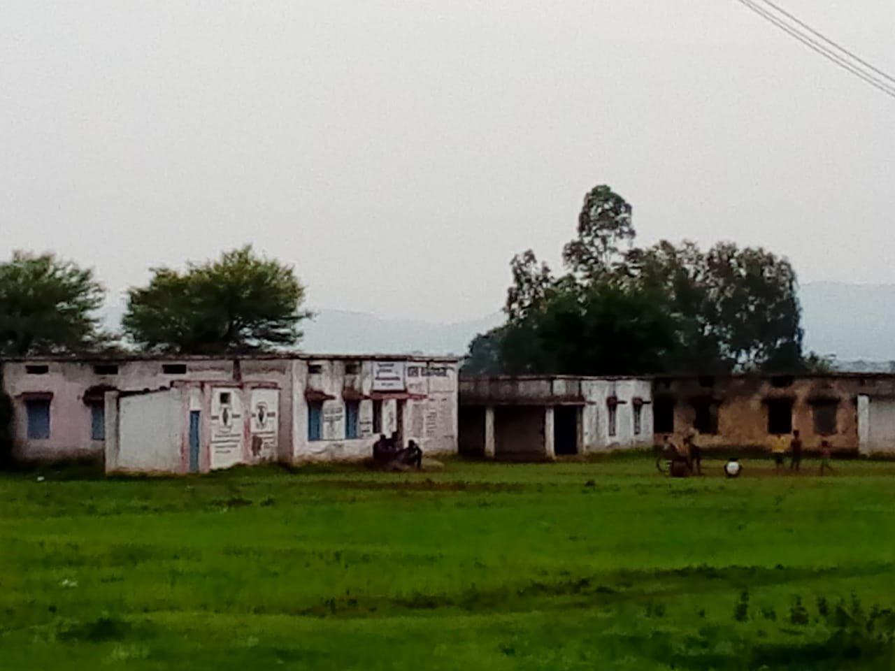 स्कूल के खेल मैदान को बना दिया खेत