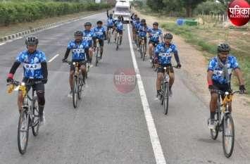 अहमदाबाद से पाली पहुंची सीआरपीएफ जवानों की साइकिल यात्रा, जल संवर्धन व पर्यावरण रक्षा का दे रहे संदेश