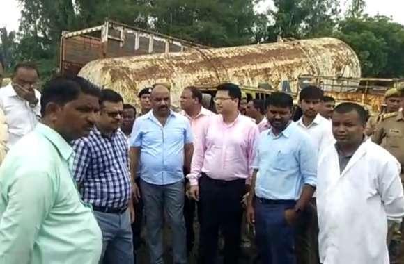 लखनऊ मंडल के आयुक्त आईएस अनिल गर्ग का औद्योगिक क्षेत्र दही चौकी का भ्रमण