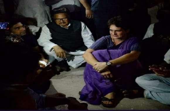 पुलिस हिरासत में लिये जाने के बाद प्रियंका गांधी को घंटों रहना पड़ा अंधेरे में, अब गेस्ट हाउस में फैलाये जा रहे बिजली के तार