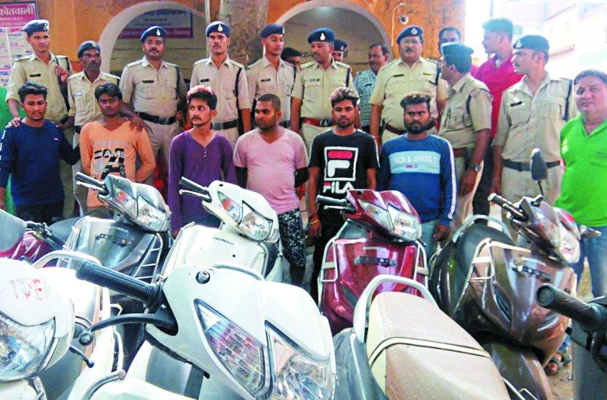 पुलिस ने पकड़ा अंतरराज्यीय वाहन चोर गिरोह