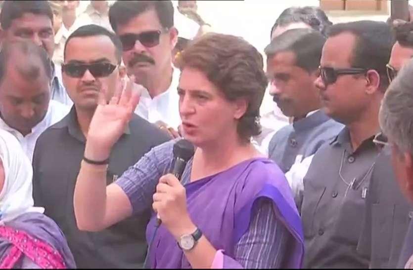 प्रियंका गांधी को हिरासत में लेने से गरमाई सियासत