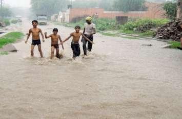 राजस्थान में यहां एक साथ बरसा सवा पांच इंच पानी, किसानों के खिल उठे मुरझाए चेहरे