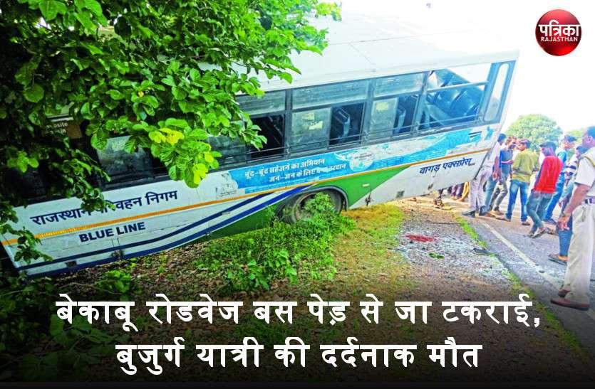 खुशी-खुशी रोडवेज से यात्रा कर रहे थे लोग, अचानक पेड़ से जा टकराई बस और उठी चीख-पुकार, एक यात्री की मौत, 11 गंभीर घायल